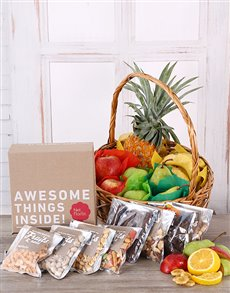 gifts: Fruity and Snack Basket!