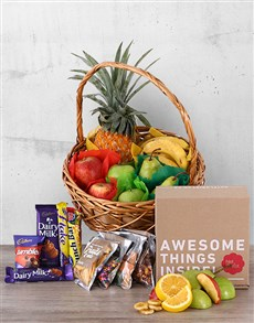 gifts: Fruity Snack and Chocolate Basket!