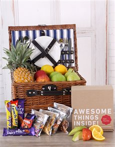 gifts: Fruit and Chocolate Picnic Basket!