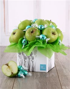 gifts: Green Apple and Lindt Edible Arrangement!