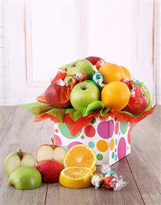 gifts: Mixed Fruit and Lindt Box!
