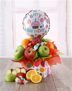 gifts: Fruit and Lindt Happy Birthday Box!