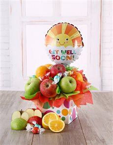 flowers: Fruit and Lindt Get Well Soon Box!