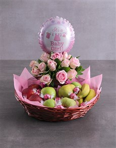 flowers: Baby Girl Fruit Fantasy Basket!
