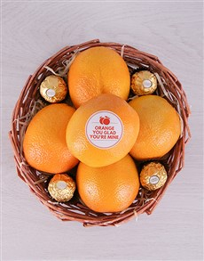 flowers: Orange You Glad Basket!