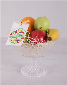 flowers: Crisp Fruit Arrangement!