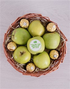 flowers: Green Apples and Ferrero Basket!