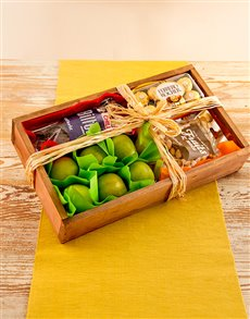 flowers: Rustic Gift Crate of Fruit and Snacks!