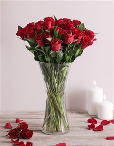 flowers: Scarlet Love Rose Vase!