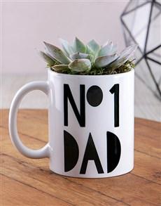 flowers: No1 Dad Succulent Mug!