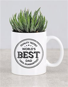 flowers: Best Dad Cactus Mug!