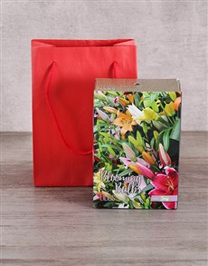 gifts: Lily Bulbs in Red Bag!