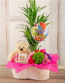 gifts: Congrats Flower Basket!