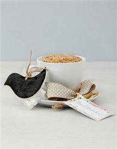 flowers: Chalk Board Tea Cup Bird Feeder!