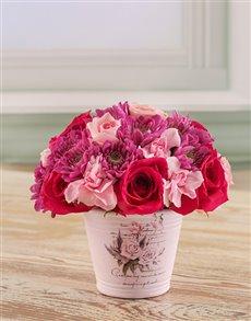 flowers: Mixed Pink Arrangement!