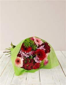 Picture of Pink Gerbera & Rose Bouquet!