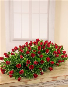 flowers: Red Roses Coffin Spray!