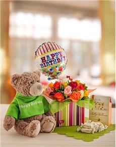 flowers: Teddy's Birthday Box!