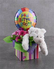flowers: Get Well Balloon,Teddy and Flowers!