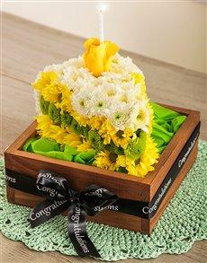 flowers: A Slice of Birthday Cake!