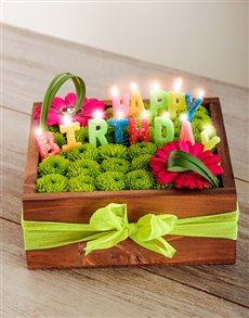 flowers: Happy Birthday Flower Crate!
