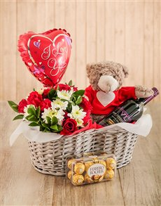flowers: Love is in the Air Gift Basket!
