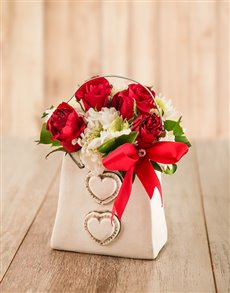 flowers: Sprays and Red Roses Handbag!