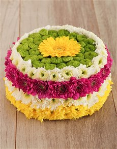 flowers: Blooming Happy Flower Cake!