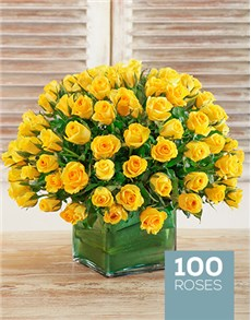 flowers: Vibrant Yellow Vase!