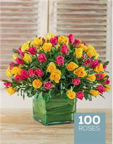 flowers: Vibrant Love Arrangement!