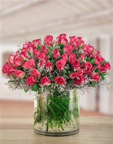 flowers: Pink Elegance Rose Arrangement!