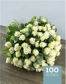 flowers: White Elegance Rose Bouquet!