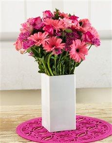 flowers: Pink Ladies Arrangement!