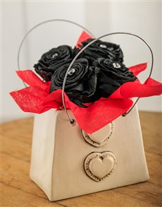 flowers: House of Poppy Black Magic Rose Purse!