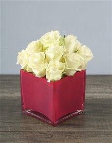 flowers: Petite White Rose Wonder!