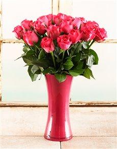 flowers: Pink Inspiration Rose Vase!