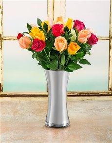 flowers: Kaleidoscope Rose Arrangement!