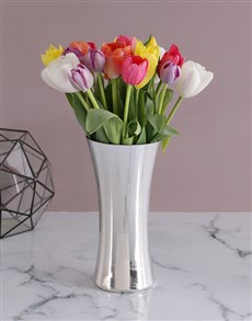 flowers: Tulip Treasures Arrangement!