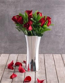 flowers: Red Romance Rose Arrangement!