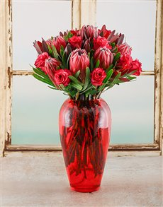 flowers: Pretty Protea Arrangement!