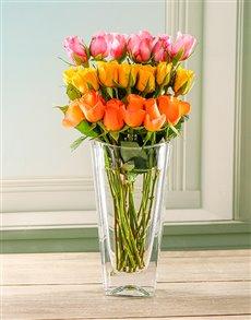 flowers: Femme Floral in Crystal Vase!