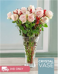 flowers: Sweet Symphony Rose Crystal Vase!