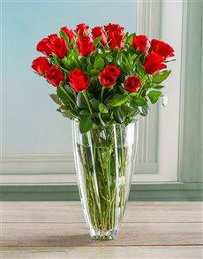 flowers: Ruby Red Rose Crystal Vase!