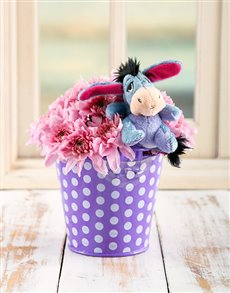 flowers: Eeyore Flower Bucket!