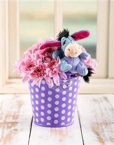 flowers: Eeyore Flower Bucket!