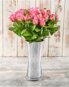 flowers: Sweet Pink Kisses Rose Arrangement!