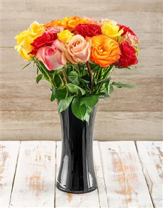 flowers: A Touch of Class Giant Ethiopian Roses Arrangement!