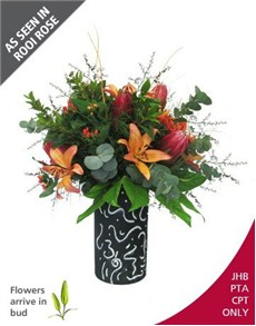 flowers: Protea and Lily Arrangement!