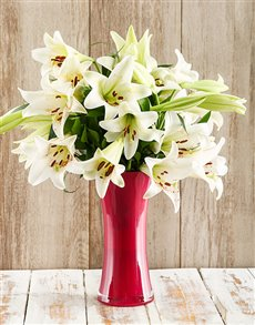 flowers: Lily Love Arrangement!