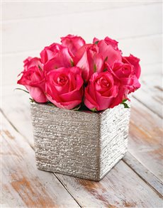flowers: Perfectly Pink Rose Arrangement!